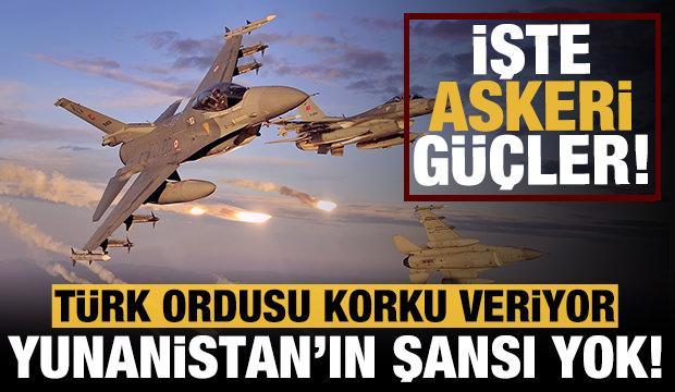 Yunanistan'ın hiç şansı yok! İşte Türkiye ve Yunanistan'ın askeri gücü!