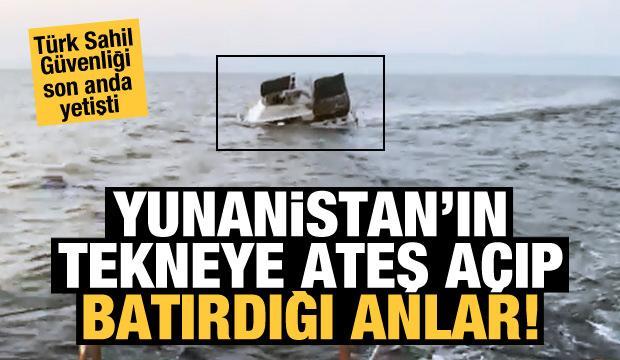 Yunanlıların ateş açtığı teknenin görüntüleri ortaya çıktı