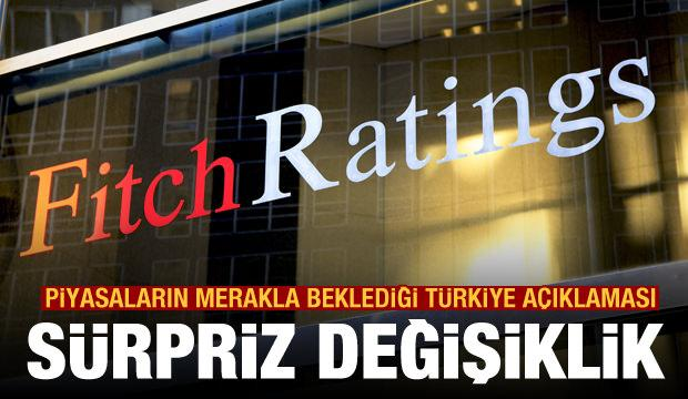 Fitch'ten dikkat çeken Türkiye açıklaması! Beklenmiyordu, sürpriz değişiklik