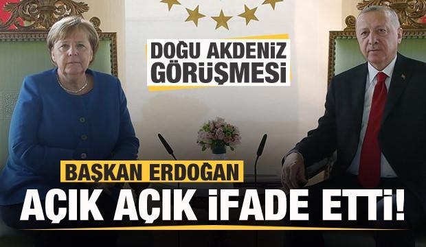 Erdoğan Merkel ile Doğu Akdeniz'i görüştü