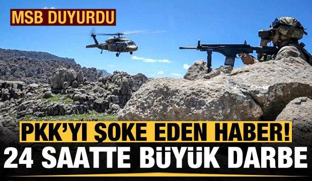 PKK'ya büyük darbe! MSB duyurdu...