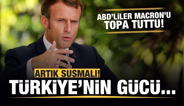 ABD'liler Erdoğan'ı hedef alan Macron'u topa tuttu: Artık susmalı...