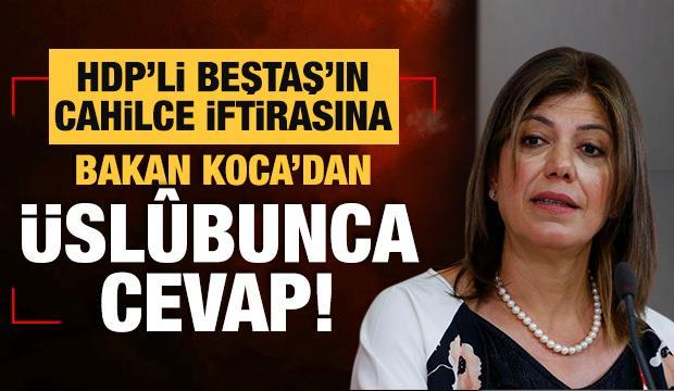 HDP'li Beştaş'ın iftirasına Bakan Koca'dan üslûbunca cevap!