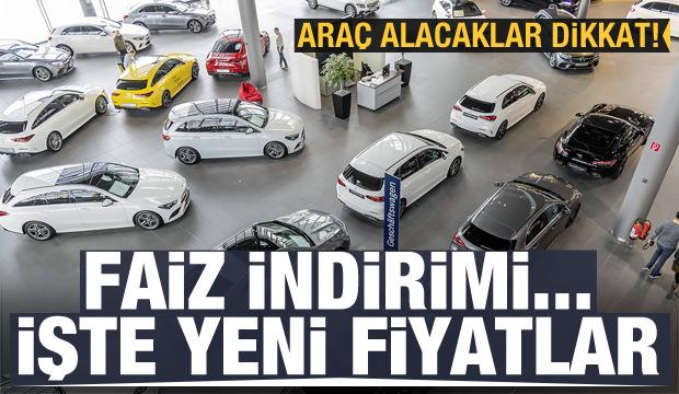 Faizler düştü! Mercedes, Volkswagen, BMW, Audi, Opel, Skoda, Toyota, Renault, Peugeot, Fiat...