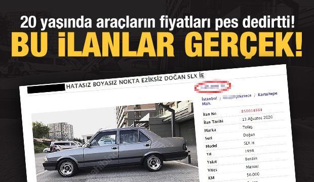 20 yaşını geçmiş araçların fiyatı şaşkına çeviriyor!