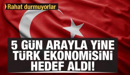 5 gün arayla yine Türk ekonomisini hedef aldı! Moody's'ten bir not indirimi daha