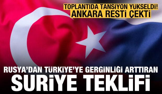 Rusya'dan Türkiye'ye tuhaf Suriye teklifi! Toplantıda kriz çıktı, Ankara resti çekti