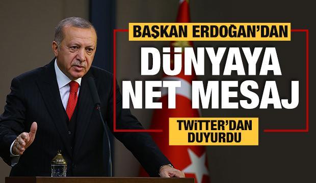 Başkan Erdoğan'dan AP ve Macron'a cevap