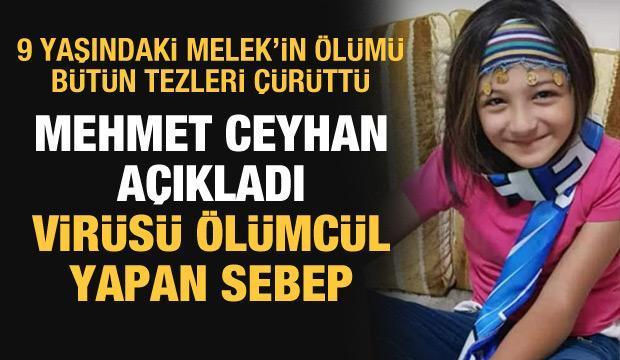 Mehmet Ceyhan'dan 9 yaşındaki Melek'in kahreden ölümüyle ilgili dikkat çeken sözler
