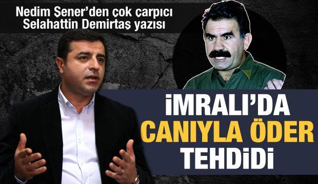 Nedim Şener'den dikkat çeken sözler: Demirtaş PKK'ya rağmen siyaset yapamaz