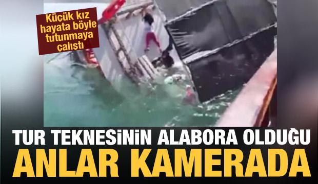 Tur teknesi böyle alabora oldu! Küçük kızın hayata tutunma çabası