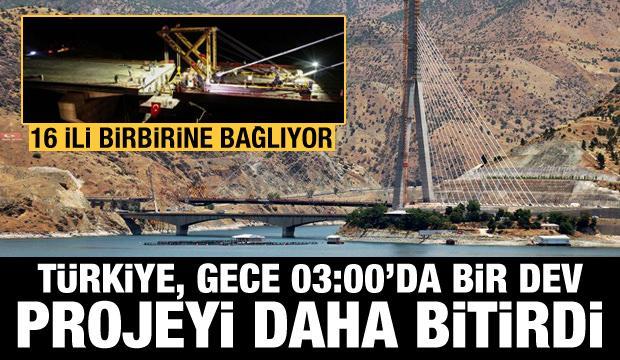 Türkiye, gece saat 03:00'da bir dev projeyi daha bitirdi: Yeni Kömürhan Köprüsü