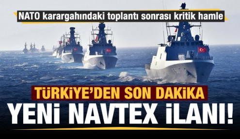 Türkiye'den yeni NAVTEX ilanı...