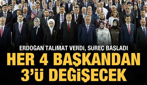 AK Parti'de kongre öncesinde değişim: Her 4 başkandan 3'ü değişecek