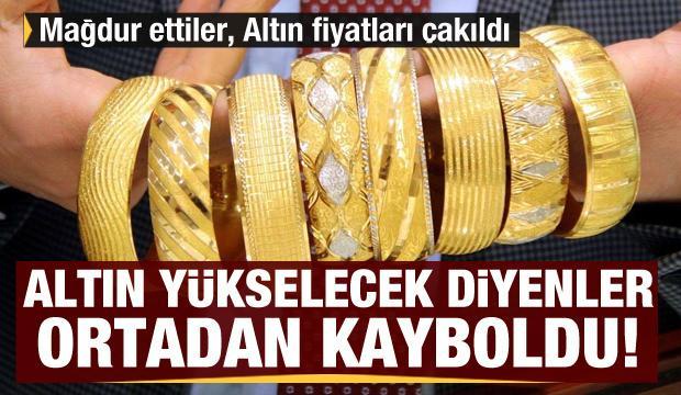 Altın yükselecek diyenler ortadan kayboldu! Mağdur ettiler, Altın fiyatları çakıldı!