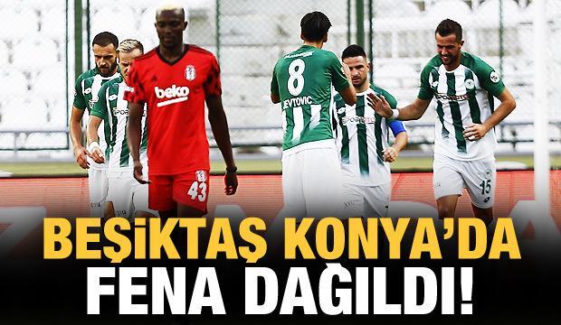 Beşiktaş, Konya'da fena dağıldı!