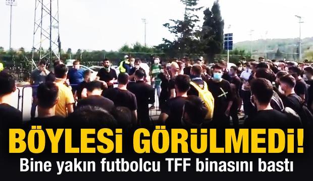 Bine yakın futbolcu TFF binasında!