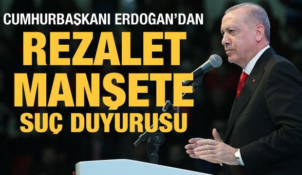Cumhurbaşkanı Erdoğan'dan Yunan gazetenin rezalet manşetine suç duyurusu