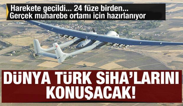 Dünya Türk SİHA'larını konuşacak! 24 füzeyle birden vuracak