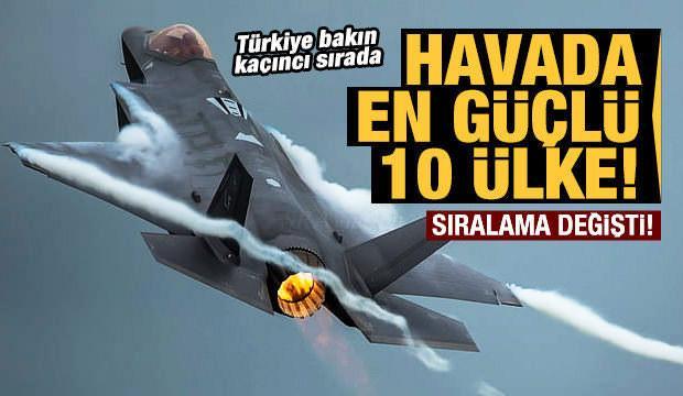 En güçlü hava kuvvetlerine sahip ülkeler belli oldu