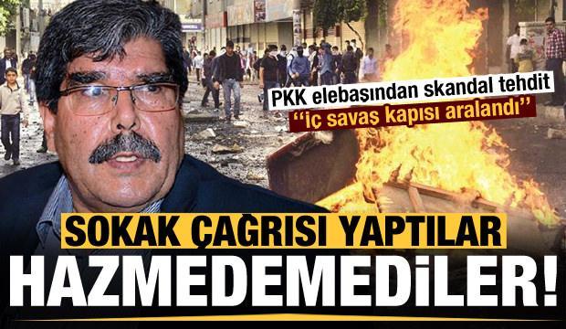Hazmedemediler! Sokak çağrısı geldi, PKK ele başı tehdit etti
