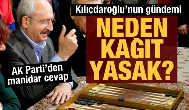 Kılıçdaroğlu: Kahvelerde neden kağıt oynanmıyor? Oysa çözüm basit...