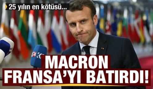 Macron Fransa'yı batırdı! 25 yılın en yüksek borcu