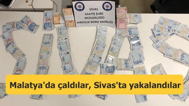 Malatya'da hırsızlık yaptılar, Sivas'ta yakalandılar