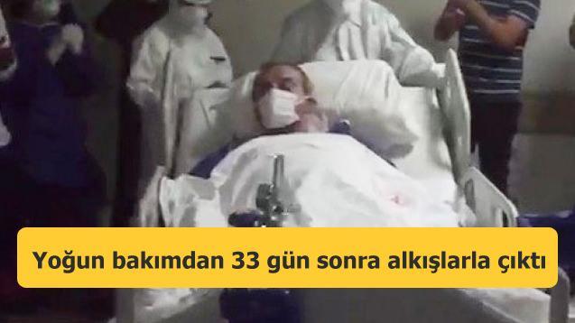 Sağlık çalışanı yoğun bakımdan 33 gün sonra çıktı