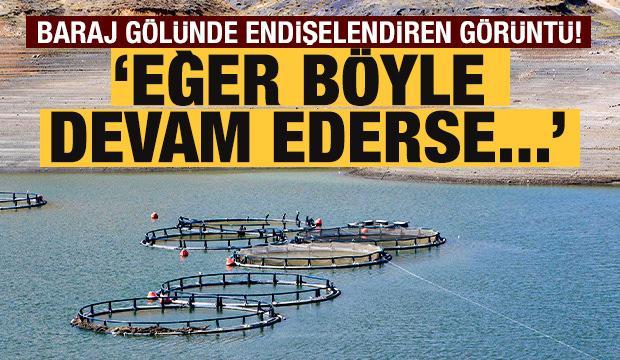Sarımehmet Barajı'nda vatandaşları endişelendiren görüntü!