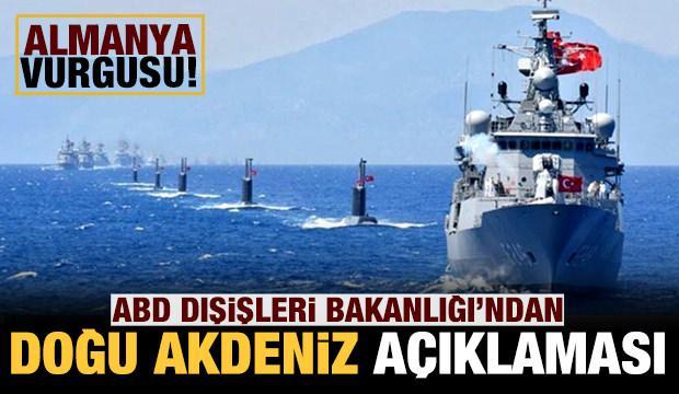 Son dakika: ABD'den Doğu Akdeniz açıklaması