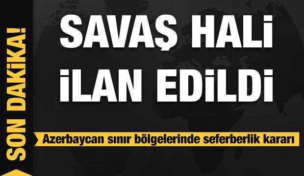 Son dakika.. Azerbaycan'da sıkı yönetim!