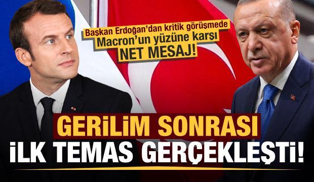 Son dakika: Başkan Erdoğan ile Macron arasında gerilim sonrası ilk temas!