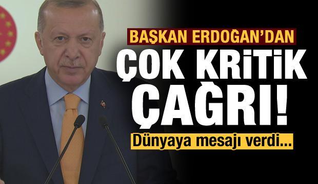 Son dakika: Erdoğan'dan BM'ye çok kritik çağrı! Dünyaya mesajı verdi...