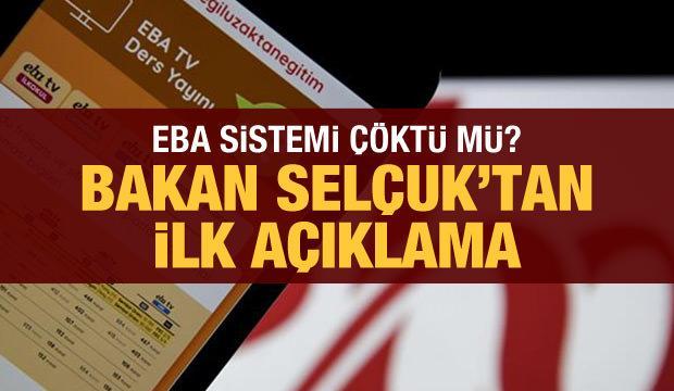 Son dakika haberi: EBA çöktü mü? Milli Eğitim Bakanı Selçuk açıkladı