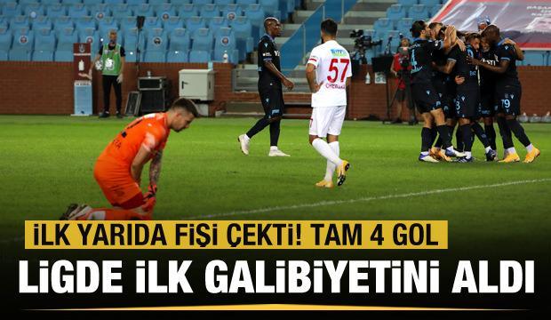 Trabzonspor ilk galibiyetini aldı!