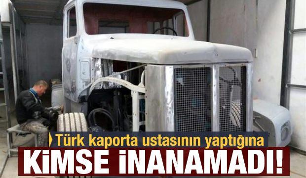 Türk kaporta ustasının yaptığına kimse inanamadı