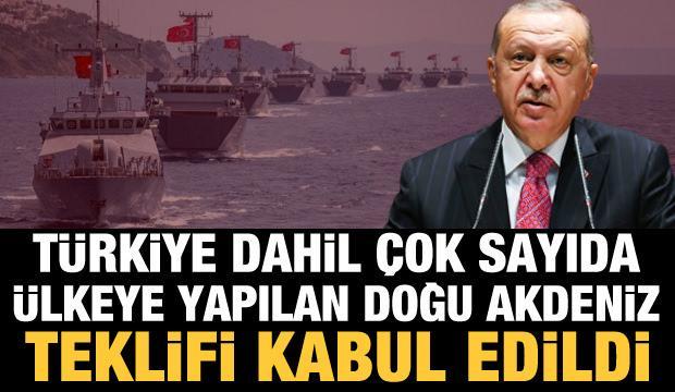 Türkiye dahil çok sayıda ülkeye yapılan Doğu Akdeniz teklifi kabul edildi