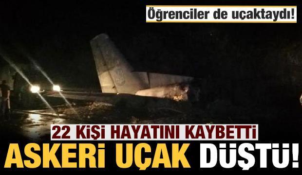 Ukrayna'da askeri uçak düştü: Ölü sayısı 22'ye yükseldi