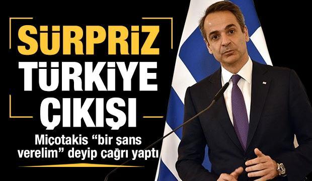 Yunanistan Başbakanı Miçotakis'ten sürpriz Türkiye çıkışı