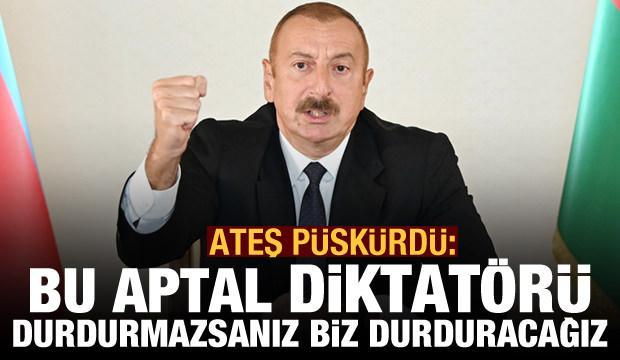 Aliyev ateş püskürdü: Bu aptal diktatörü durdurmazsanız biz durduracağız