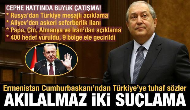 Azerbaycan-Ermenistan arasında büyük çatışma! Sarkisyan'dan Türkiye'ye akılalmaz iki suçlama