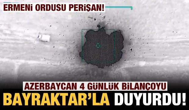 Azerbaycan Savunma Bakanlığı görüntüleri paylaştı: 4 günlük bilançoyu böyle duyurdu!