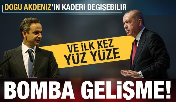 Doğu Akdeniz için bomba gelişme! Son dakika: Erdoğan ve Miçotakis yüz yüze...