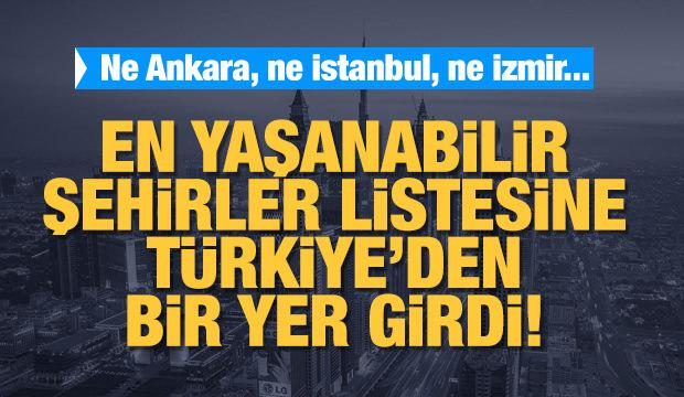Dünyanın yaşam şartları en iyi illeri arasına Türkiye'den bir yer!
