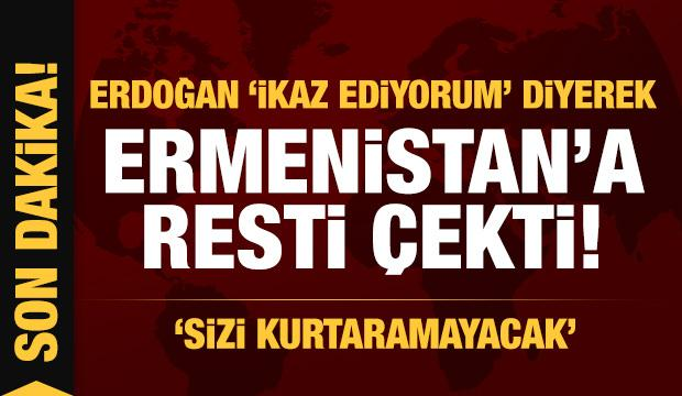 Erdoğan 'İkaz ediyorum' diyerek resti çekti: Sizi kurtaramayacak