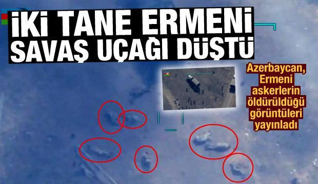 Ermenistan'a ait iki adet savaş uçağı düştü! Ermeni askerleri böyle öldürüldü