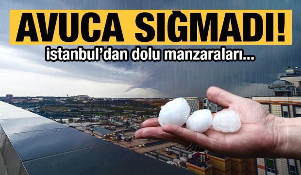 İstanbul'dan dolu manzaraları!
