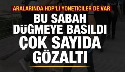 Kars merkezli PKK operasyonu: Aralarında HDP'li yöneticilerinde olduğu 19 kişi gözaltında
