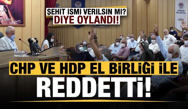 Şehit ismi verilsin mi? diye oylandı, CHP ve HPD el birliği ile reddetti!